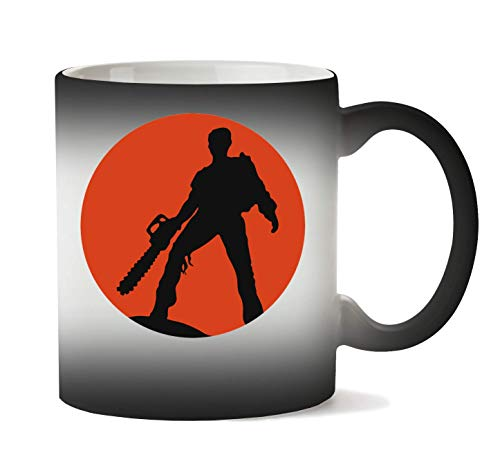 BakoIsland Ash Vs The Evil Dead Artwork Taza Calor Cambio De Color
