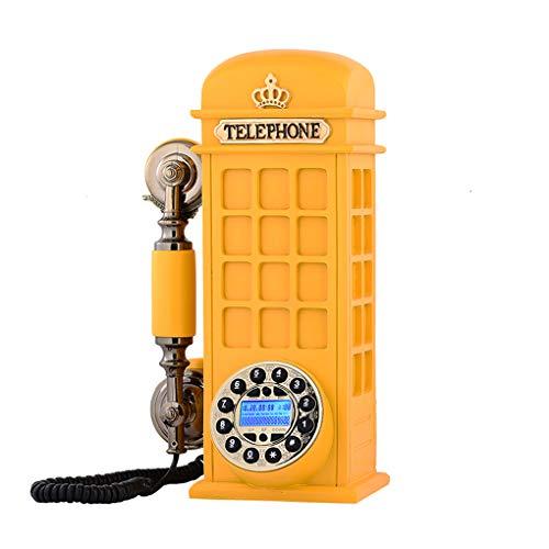Teléfonos VOIP Europea Antiguo de la Manera Creativa de teléfono Fijo Nuevo hogar teléfono Fijo América Cosecha Teléfono Retro (Color : Amarillo)
