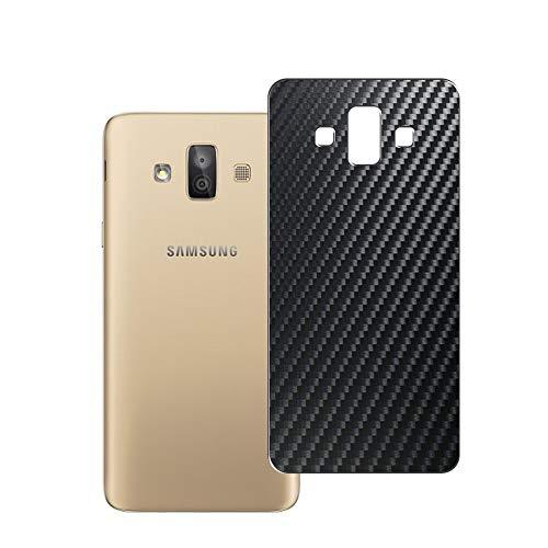 VacFun 2 Piezas Protector de pantalla Posterior, compatible con Samsung Galaxy J7 Duo 2018 J720 SM-J720FZ, Película de Trasera de Fibra de carbono negra