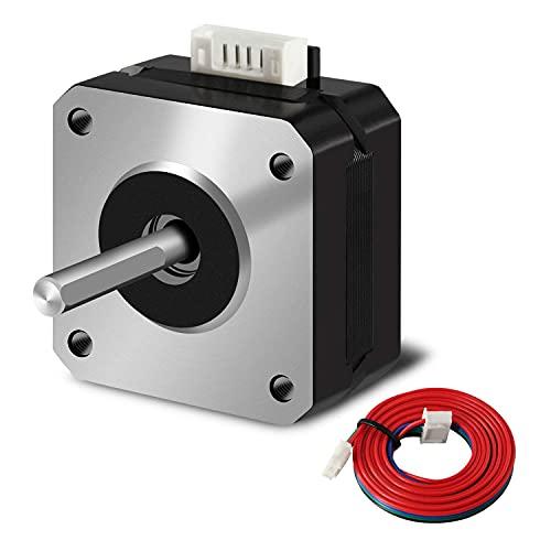 SIMAX3D Motor paso a paso Nema 17 42x23mm 1.5A 2 fases 4 cables 1.8 grados con cable de 39.3 pulgadas para impresora 3D Creality CR-10 10S Ender 3/extrusora CNC y eje Y