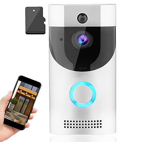 Videocitofono Senza Fili, Wifi Smart Video campanello Visibile Telecamera senza fili con visione notturna a infrarossi Allarme di emergenza Monitoraggio telefono mobile