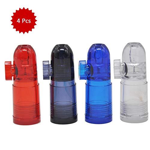 LUCKFY Bullets Snuff Snuff Bottle Rocket Pippotto pallottola di Figura della Bottiglia di Vetro nasale Sniff (4 Pack)