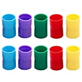 KISEER 10 Pcs Tornado Tube Bottle Connector Plastic Vortex Cyclone Tube Tornado in A Bottle Connector for Scientific Experiment and Test, 5 Colors