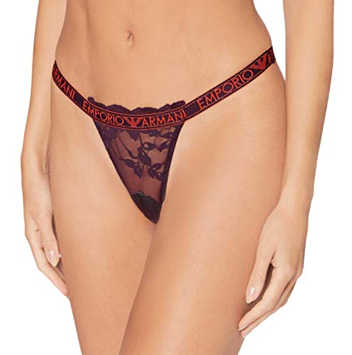 Emporio Armani Underwear Thong Ropa Interior, UVA UVA, XL para Mujer