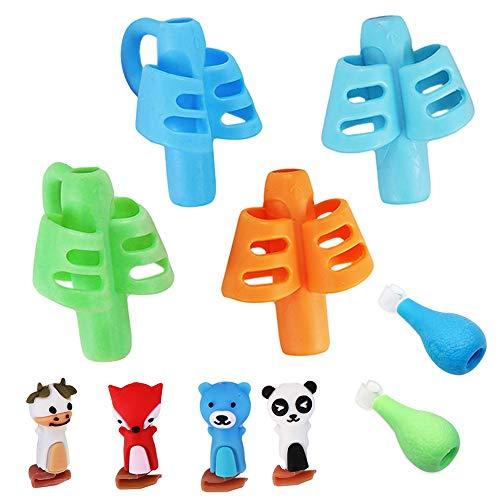 Agarrador de Lápiz,10 Pieces Pencil grip para Corregir la postura,Adaptador Lapiz para Niños Nuevos Ergonómica Lápices Agarre para Escritura Herramienta de Corrección de Postur