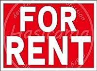 「FOR RENT」 注意看板メタル安全標識注意マー表示パネル金属板のブリキ看板情報サイントイレ公共場所駐車ペット誕生日新年クリスマスパーティーギフト