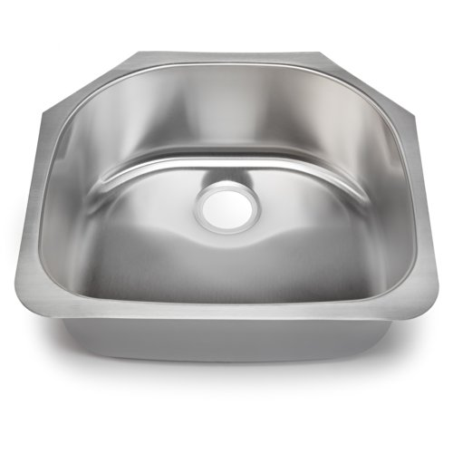 Hahn Chef Series SS038 23-Inch Undermount Half-Moon Single Bowl