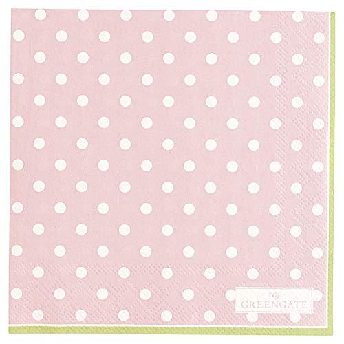 GreenGate PAPNAPSSPO1912 Spot Servietten Pale pink small 25 x 25 cm 20 Stück (1 Pack)