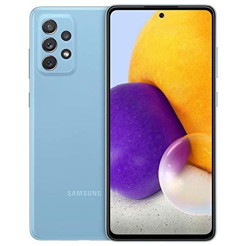 Samsung Galaxy A72 (SM-A725M/DS) Dual SIM 128GB 6.7 pulgadas, GSM desbloqueado de fábrica, versión internacional, color azul