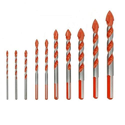 Drill Bit 10Pcs Drill Bits Ceramic Wall Glass Punching Hole Woodworking Tool Set