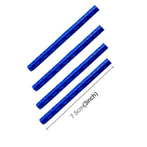 HAIMEILING Nueva OQSPORT 12 PCS de la Rueda de la Bici habló Reflectores Clip del Montaje del Tubo Luz de Advertencia de Gaza (Azul) (Color : Blue)