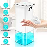 IVSO Automatic Foaming Soap Dispenser, Touchless Soap Dispenser, 350ml Hands Free Infrared Motion Sensor Countertop/Auto Foam Soap Pump for Bathroom Kitchen Toilet Office Hotel (White)