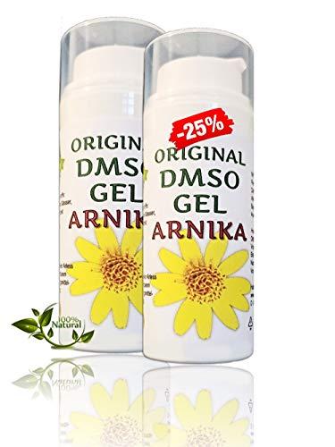 Leivys DMSO GEL – Salbe Arnika Auszug mit Dimethysulfoxid 99,9% Arnika Auszug -bequeme Anwendung, effektive Wirkung 2x50ml