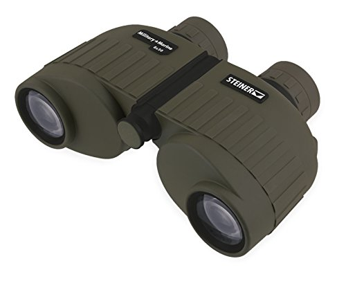 Steiner Military-Marine Series Binoculars, Lightweight Tactical Precision Optics for Any Situation, Waterproof, Green, 8x30