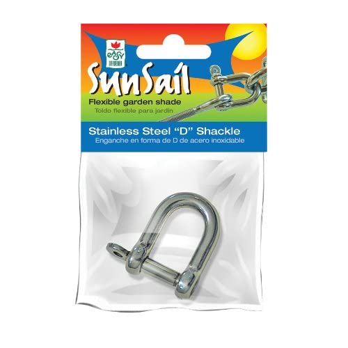 Amazon.com : Easy Gardener 10988 Stainless Steel D-Shackle Sun Sail Accessory, 1 Unit : Sailing Shackles : Garden & Outdoor