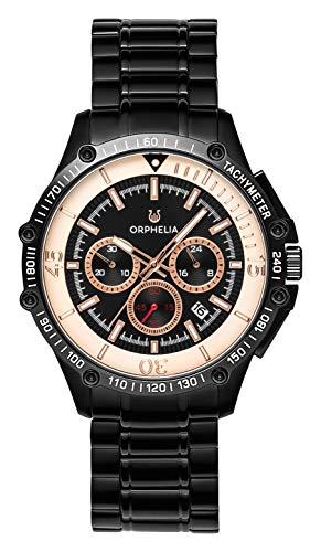 ORPHELIA Herren Chronograph Quarz Uhr mit Edelstahl Armband OR82812