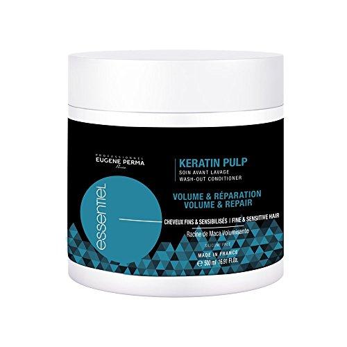 EUGENE PERMA Professionnel Soin Avant Lavage Kératine Pulp Essentiel pour Donner du Volume/Réparer Les Cheveux Fins 500 ml