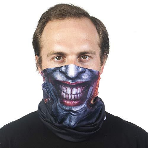 Concept One DC Comics The Joker Multi-Purpose Neck Gaiter Scarf Bandana, Black, One Size