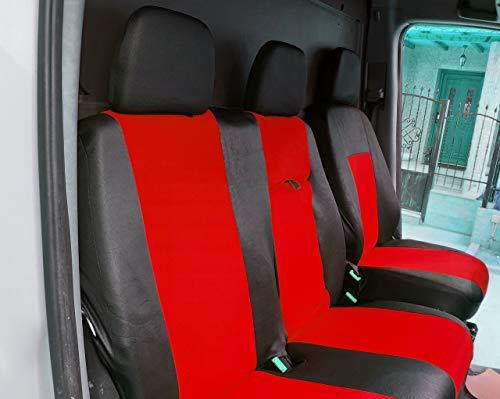 24/7Auto Stoelhoezen rood/zwart voor SPRINTER 2010/16 LHDrive bus 2+1