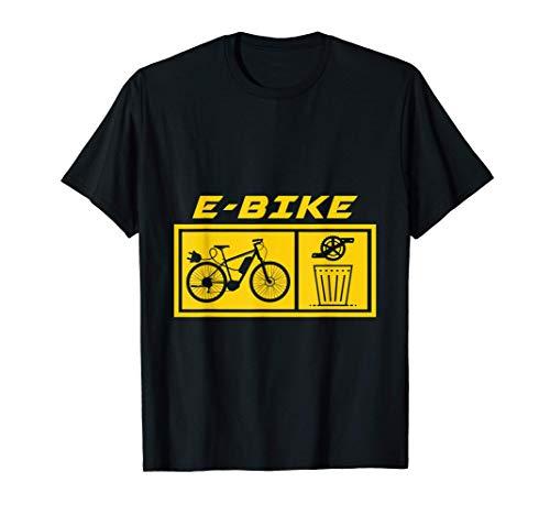Basura Pedales E-Bike Bicicleta eléctrica Ciclista Regalo Camiseta