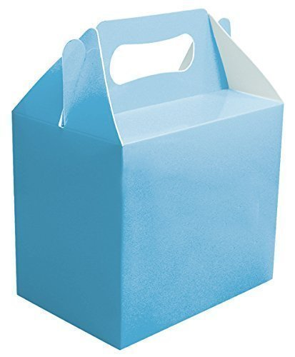 24 X Bébé Bleu Uni Fête Boîtes Nourriture Jouet Surprise Déjeuner Carton Cadeau Mariage/Enfants
