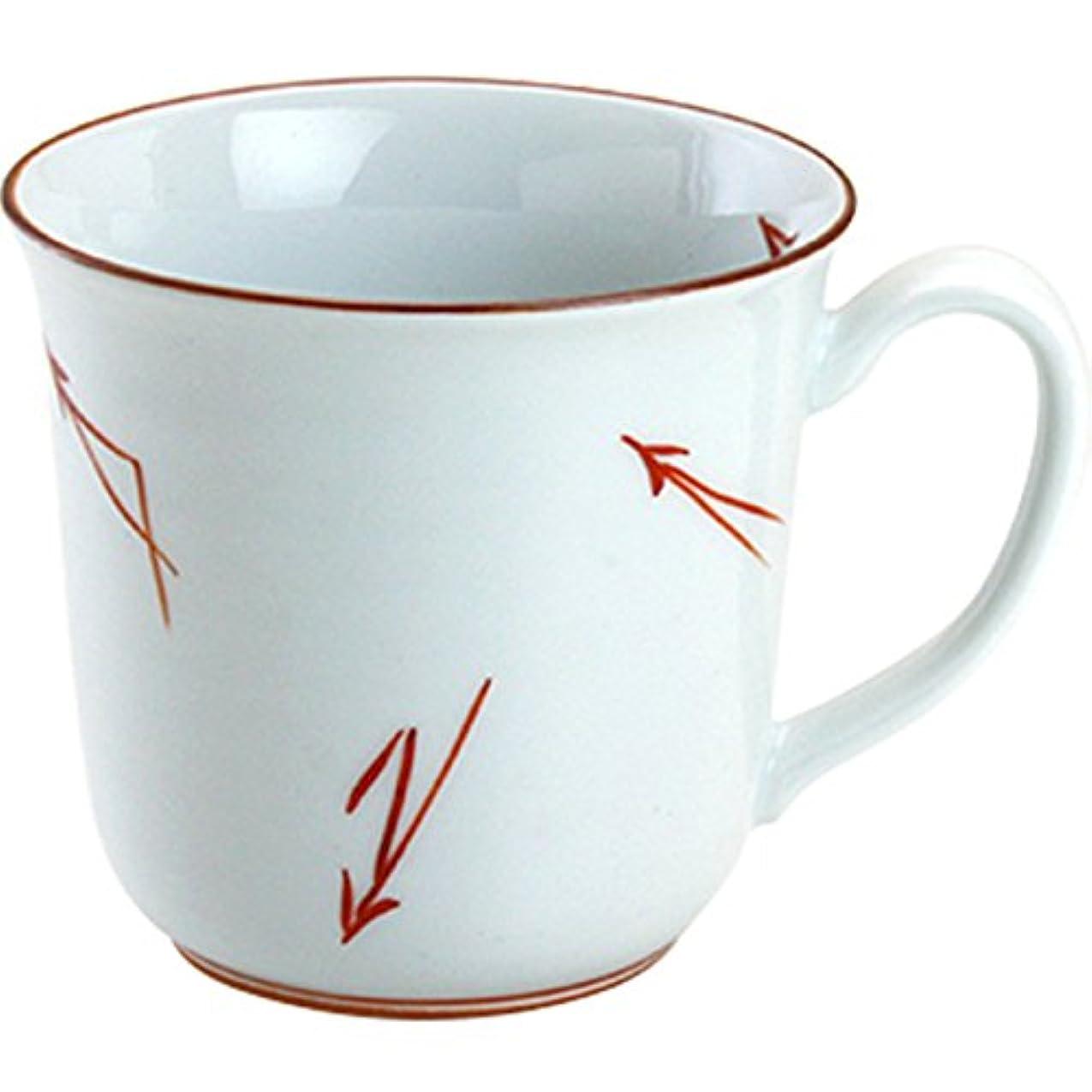 放棄する賄賂仮定、想定。推測ランチャン(Ranchant) マグカップ(赤) マルチ 11.2x9x8.6cm 染錦松葉 有田焼 日本製