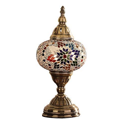 MX Lámpara de Mesa turca-Lámpara de Escritorio de Estilo Tiffany ...