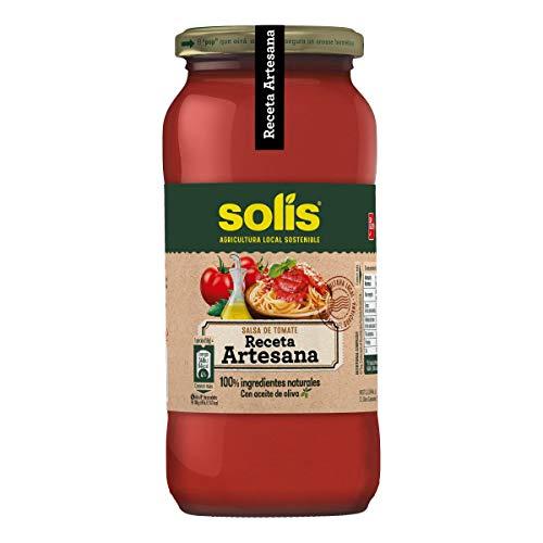 SOLIS Tomate Frito Receta Artesana Frasco Cristal, Sin Gluten, 550 g