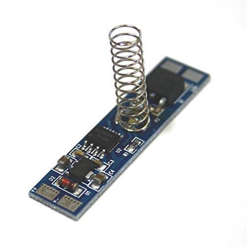 LED Touch Dimmer Schalter für LED Streifen oder LED Beleuchtung, Berührungssensor zum stufenlosen Dimmen, für LED Leisten und Aluminium Profile