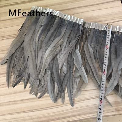 Xucus Wholesale 2meters Dyed Yellow Feather Trim Fringe Don't miss the campaign Rooster Virginia Beach Mall
