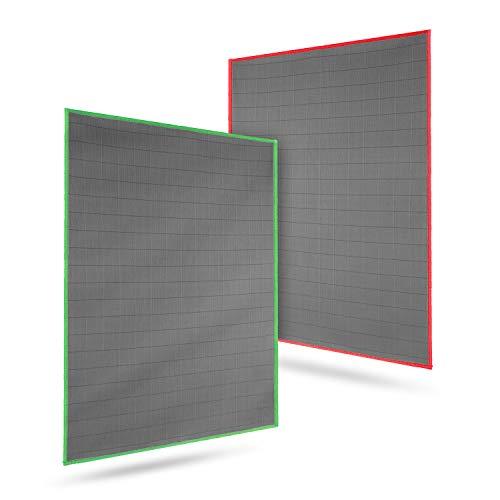 CARBOTEC® Premium Carbon Mikrofaser Glastücher - zur professionellen Reinigung für Fussel- und streifenfreie Gläser/Spiegel/Fenster – Poliertuch/Waffeltuch mit Carbonfaser - 50x40cm - 400gsm(2)