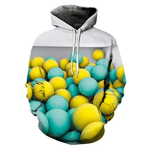 Poouoooy sweatshirt met capuchon en digitale druk, 3D-sweatshirt, met capuchon, voor dames en heren