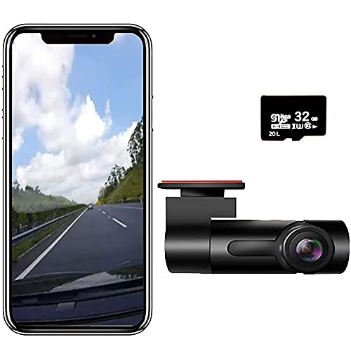 Camera for Car Dash Cam Real-time Video on Phone app Mini Dashcam Car Video Recorder Home Security Camera Night Vision WDR G-Sensor Parking Monitor