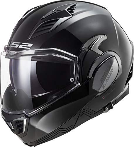 LS2 Motorradhelm FF900 VALIANT II SOLID GLOSS BLACK, Schwarz, L
