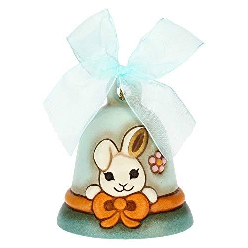 THUN - Campanelle Limited Edition Azzurra Dipinta a Mano - Idea Regalo Pasqua - Accessori Casa - Linea Color Your Easter - Ceramica - 7 x 7 x 8 h cm