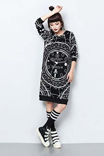 Womens Long Sleeve Top Jumper Hoodie Jacket Sweatshirt Street Graffiti Shirt
