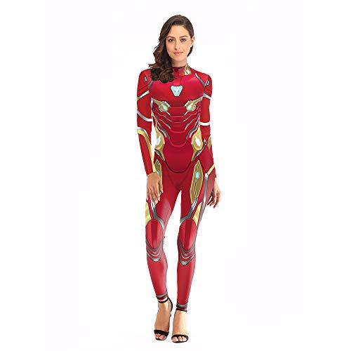 YXIAOL Iron Man, Superheld Kostüm, Avengers Movie Cosplay Kostüm, Halloween Karneval Karneval Party Kostüm, 3D Style, Kinder/Erwachsene,S/M