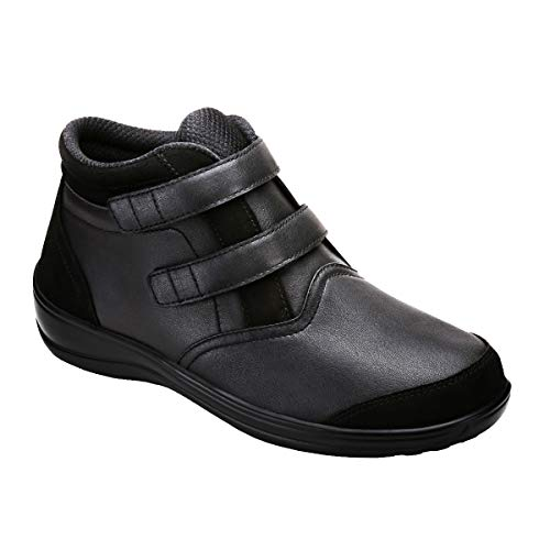 Orthofeet Proven Bunions, Plantar Fasciitis Relief. Extended Widths. Arch Support Orthopedic Diabetic Women's Bootie Tivoli Boots Black