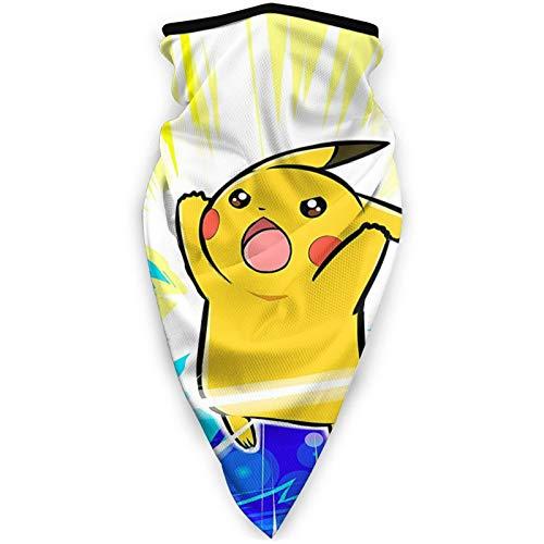 Máscara facial unisex de Pokemon a prueba de viento a prueba de polvo protección solar pasamontañas cuello bufanda para correr ciclismo