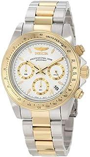ساعة انفيكتا للرجال بمينا بيضاء اللون وبسوار ستانلس ستيل -Invicta-9212