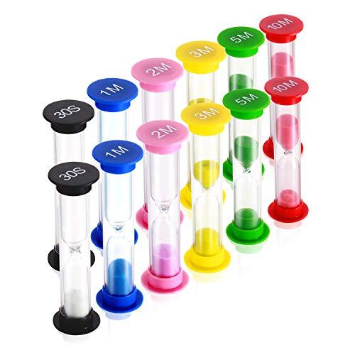 Dsmile Sand Timer,Plastic Hourglass Timer,Colorful Sandglass Hourglass Sand Clock Timer 30sec / 1min...