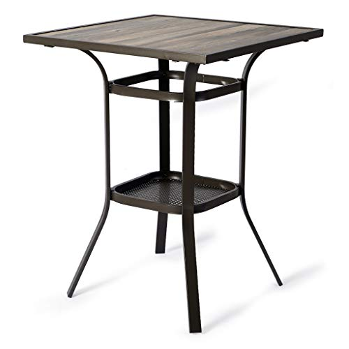 Kozyard Isabella High Swivel Bar Stools/Chair Set for Home Patio, Back Yard, Cafes, Bistro, Restaurants and Chic Bars (Table)