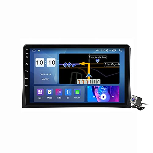 Buladala Android 11 Radio estéreo para Coche con 9″ Pantalla Táctil para VW Multivan T5 2003-2015 Soporta Bluetooth FM Am RDS Radio/Navegacion GPS/Carpaly Android Auto (Cámara de Respaldo),M500s