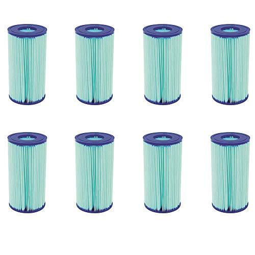 Bestway Flowclear Anti Microbial Type III, A/C Pool Filter Cartridge (8 Pack)