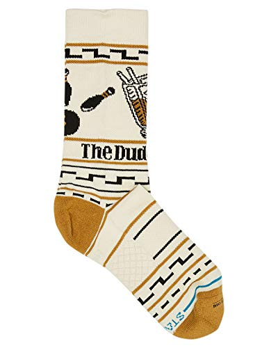 Stance Mens and Womens The Big Lebowski The Dude Combed Cotton Socks Pack of 1 Tan 3-5.5