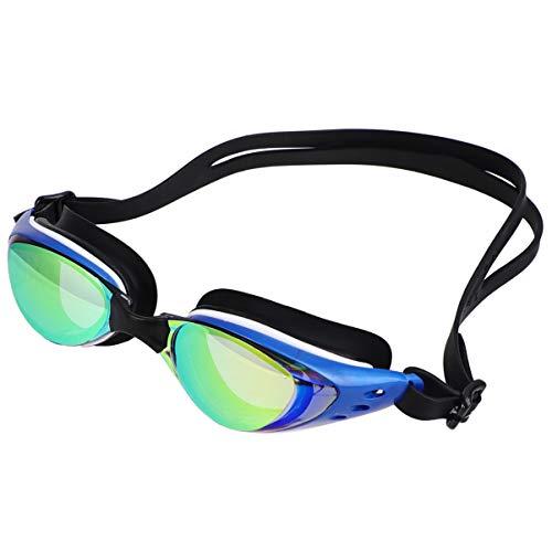 BESPORTBLE Schwimmbrille Professionelle Schwimmbrille Anti-Fog-Brille für Schwimmer Männer Frauen im Freien (Blauer Rahmen)