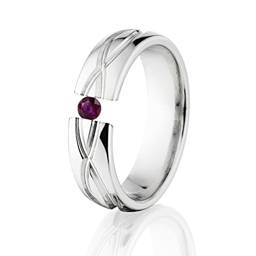Ruby Ring Titanium Infinity Tension Set Jewelry Stunning Ruby Band