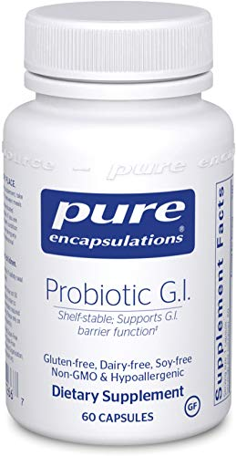 Pure Encapsulations Probiotic G.I. | Shelf Stable Probiotic for Bone Health, Lean Body Mass, Intestinal Health, and Gastrointestinal Support* | 60 Capsules