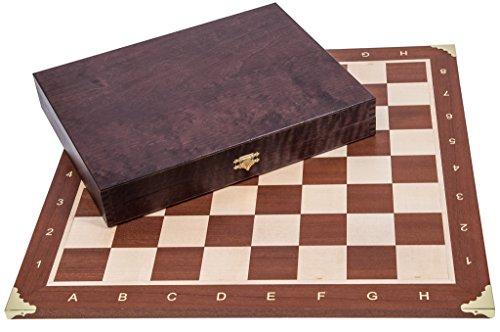 Square - Profesional Ajedrez de Madera Nº 5 Square - Francia Lux - Tablero de ajedrez + Figuras - Staunton 5