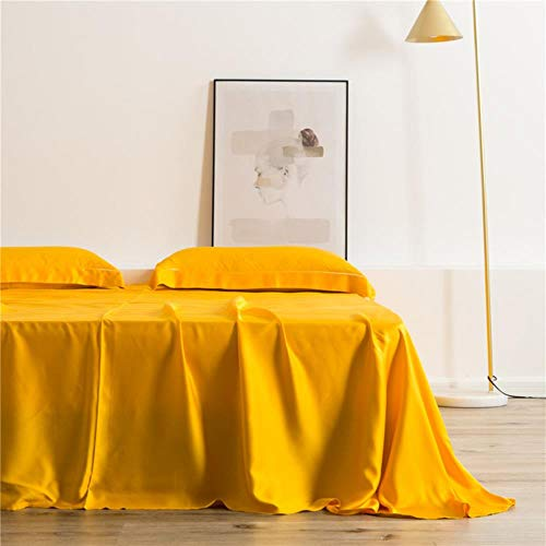 CTOBB 100% Zijde Wijn Rood Flat Sheet 25 Zijde Koningin Koning Gezonde Huid Bed Sheet Kussensloop Voor Vrouwen Mannen Kids 3 STKS